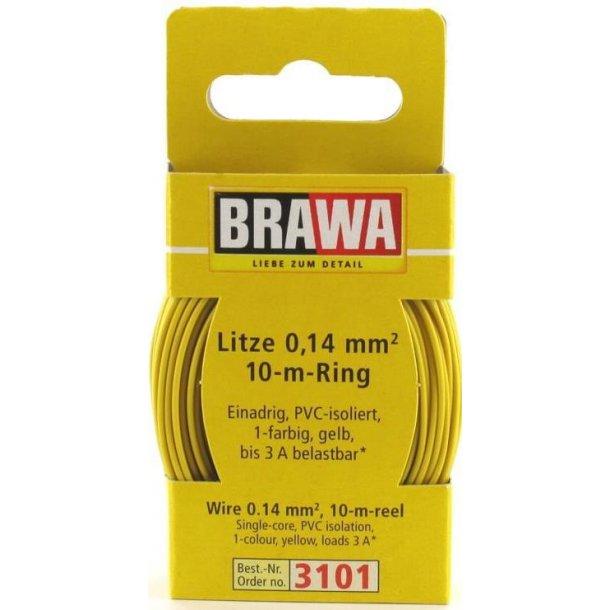 Brawa 3101 ledning gul 10 meter 0,14 mm