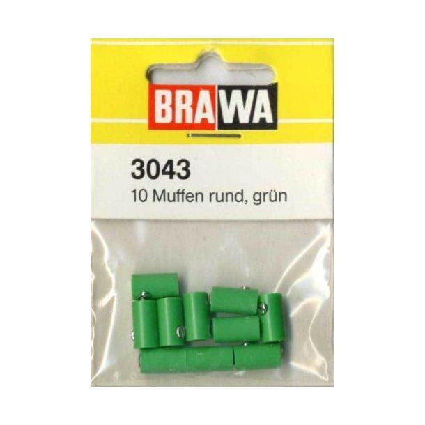 Brawa 3043 hun muffer grøn 10 stk. Ø 2,5 mm