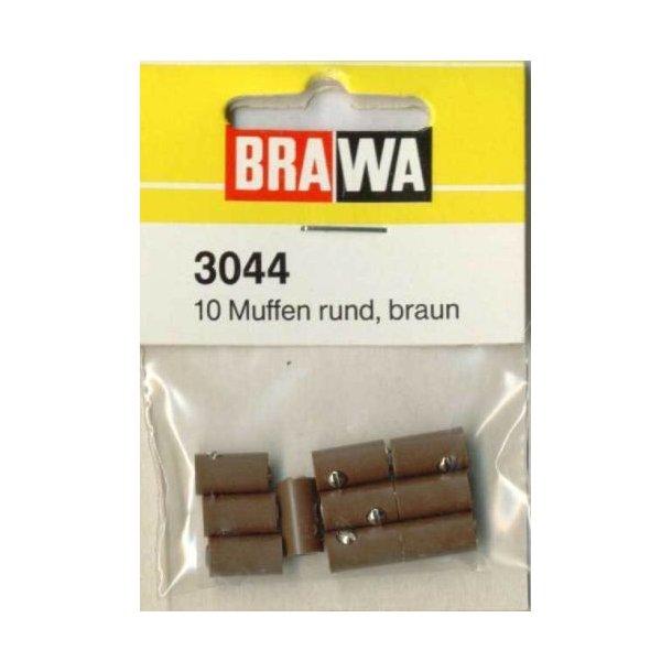Brawa 3044 hun muffer brun 10 stk. Ø 2,5 mm