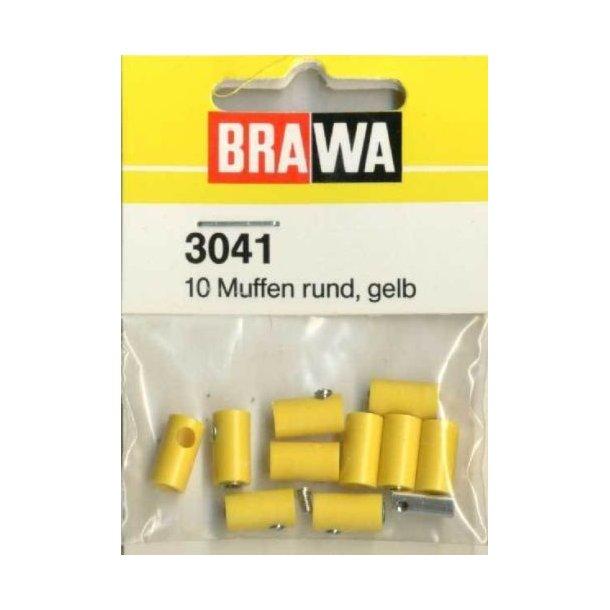 Brawa 3041 hun muffer gul 10 stk. Ø 2,5 mm