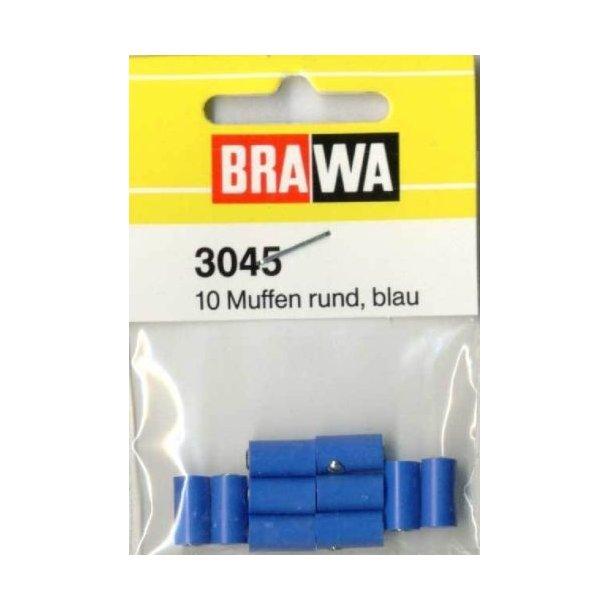 Brawa 3045 hun muffer blå 10 stk. Ø 2,5 mm