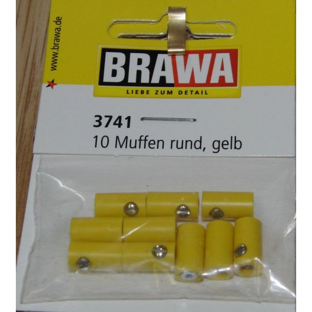 Brawa 3741 hun muffer gul 10 stk. Ø 2,5 mm