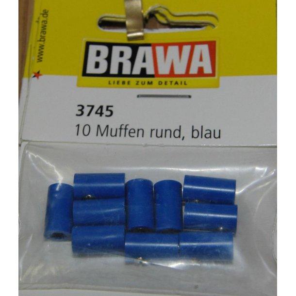 Brawa 3745 hun muffer blå 10 stk. Ø 2,5 mm