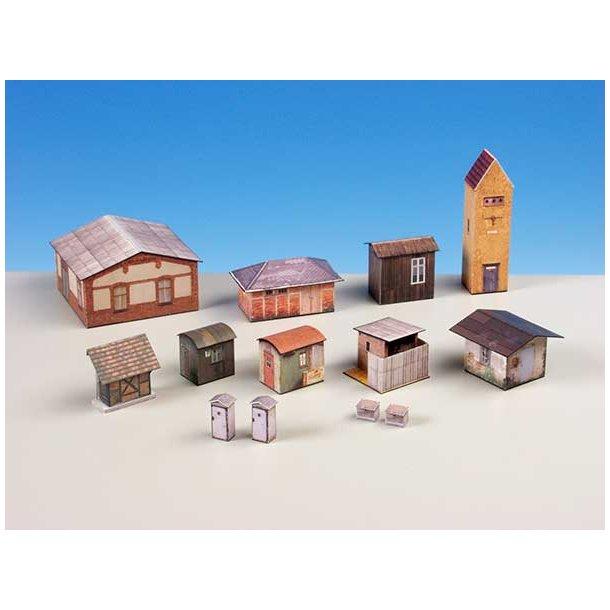 Auhagen HO 11901 Små huse i karton.