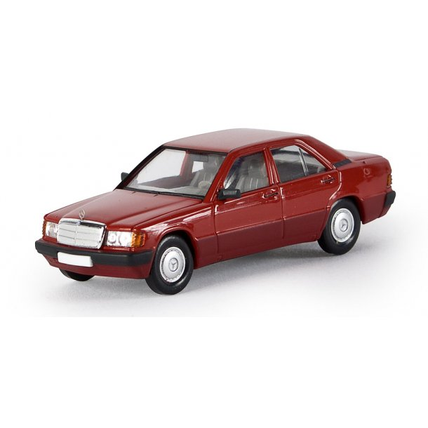 Brekina HO 13201 Mercedes Benz 190 E Limousine rød Fra Starmada