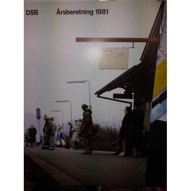 1981 DSB årsberetning 1981