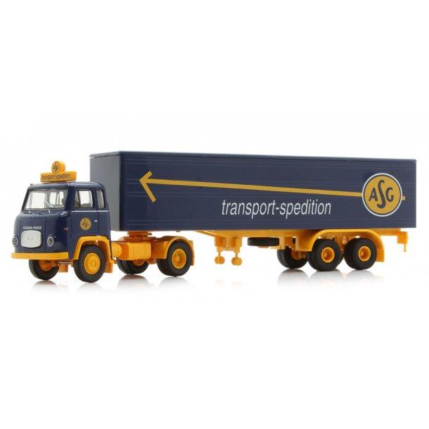 Brekina HO 85151 Scania LB 76 med trailer ''ASG''