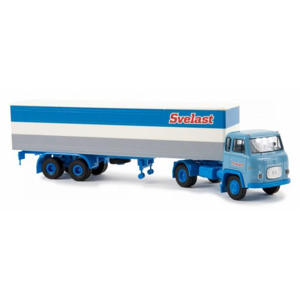 Brekina HO 85157 Scania LB 76 med trailer Svelast