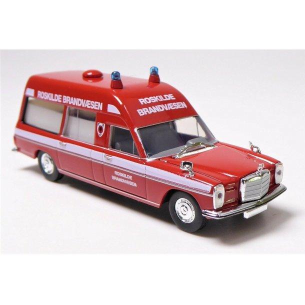 Brekina HO 13823 Mercedes Benz ambulance Roskilde Brandvæsen Nyhed 2019