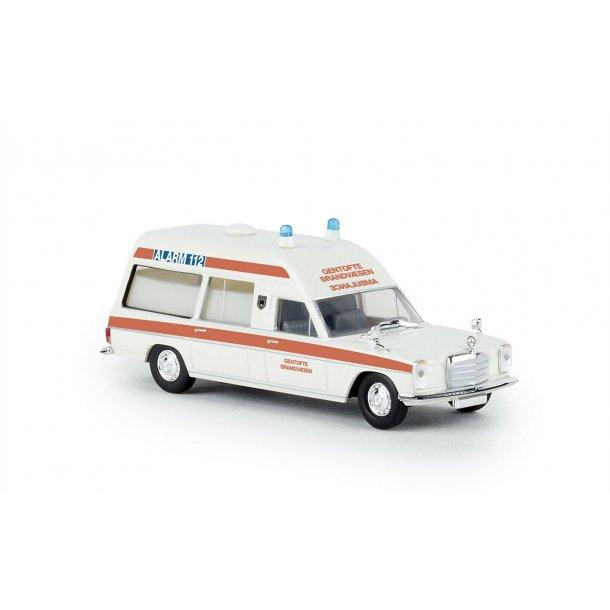 Brekina HO 13824 Mercedes Benz ambulance Gentofte brandvæsen Nyhed 2019