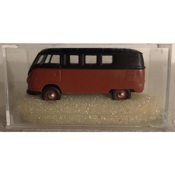 Brekina HO 31834 VW bus T 1B orange/sort