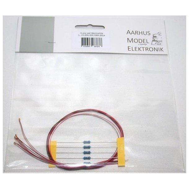 AME 0014 3 v LED varm hvid 5 stk. Pakke