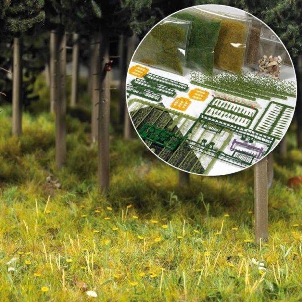 Busch HO 6043 Startpak design græsplæne & skov