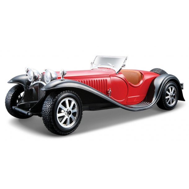 Burago 22027 Bugatti Type 55 rød/sort 1932