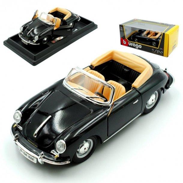 Burago 22078 Porsche 356b Cabrio Schwarz 1959-1963