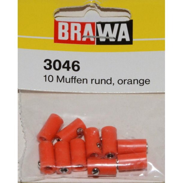 Brawa 3046 hun muffer orange 10 stk. Ø 2,5 mm