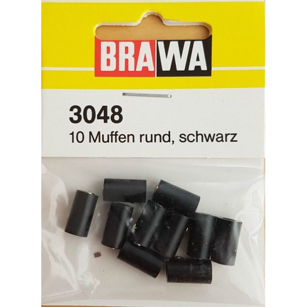 Brawa 3048 hun muffer sort 10 stk. Ø 2,5 mm