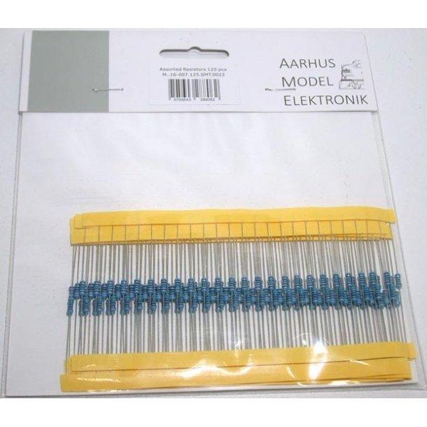 AME 0023  Modstande 125 stk. I 5 str.