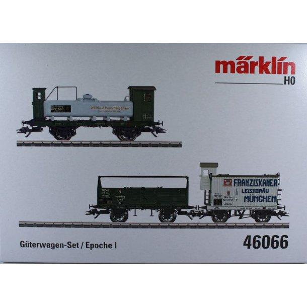 Märklin 46066 K.Bay.Sts.B. godsvogn sæt