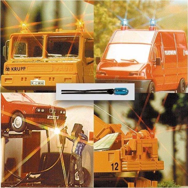 Busch 4293 mini kabel lampe BLÅ