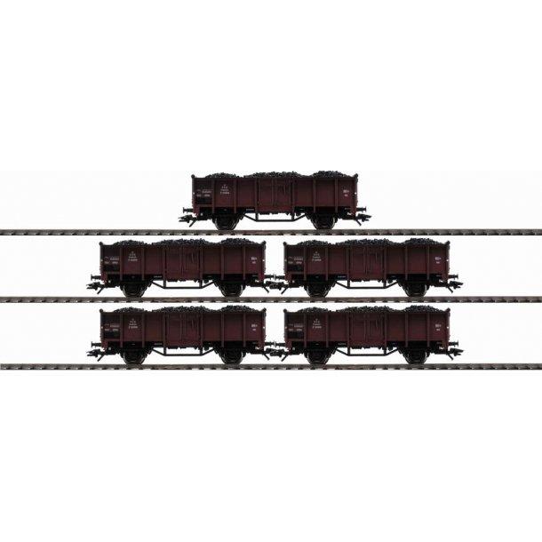 Märklin 46055 DSB godsvognsæt med ægte kul