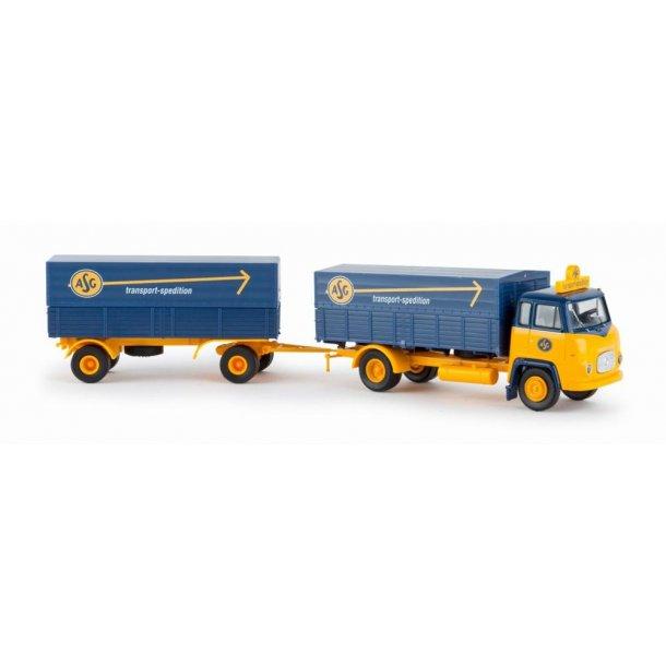 Brekina HO 85050 lastvogn og hænger Scania LB 76