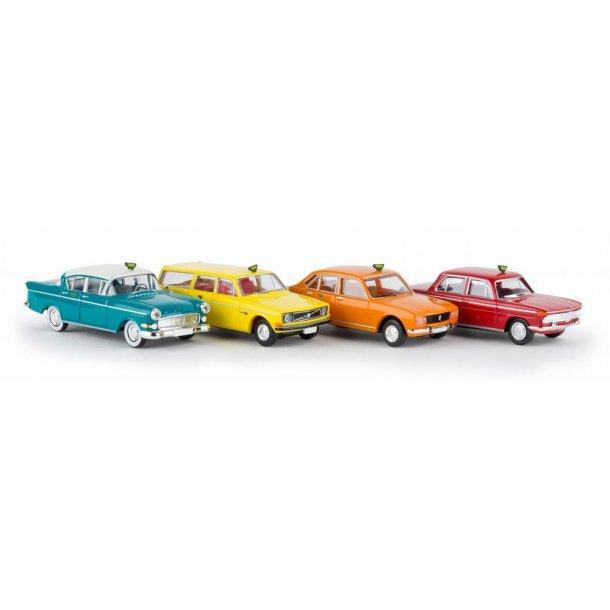 Brekina HO 90468 Dansk Taxa sæt med 4 biler