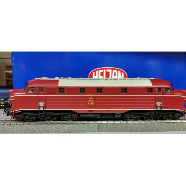 Heljan 12011 DSB MY diesellok 1201 Marlyn Monroe. Digital til DC jævnstrøm drift med ESU lok pilot 4
