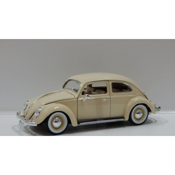 Burago 18-12029 Volkswagen Kafer-Beetle beige 1955. Scala 1:18 metal bygget