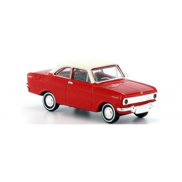 Brekina HO 20332 Opel Kadett A Coupé rød med hvid tag