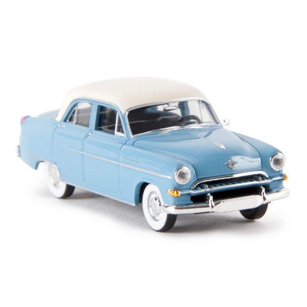 Brekina HO 20868 Opel Kapitän 1954 pastelblå/hvid.