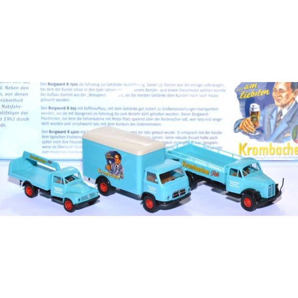 Brekina HO 2728 Borgward Krombacher sæt ny i original emballage