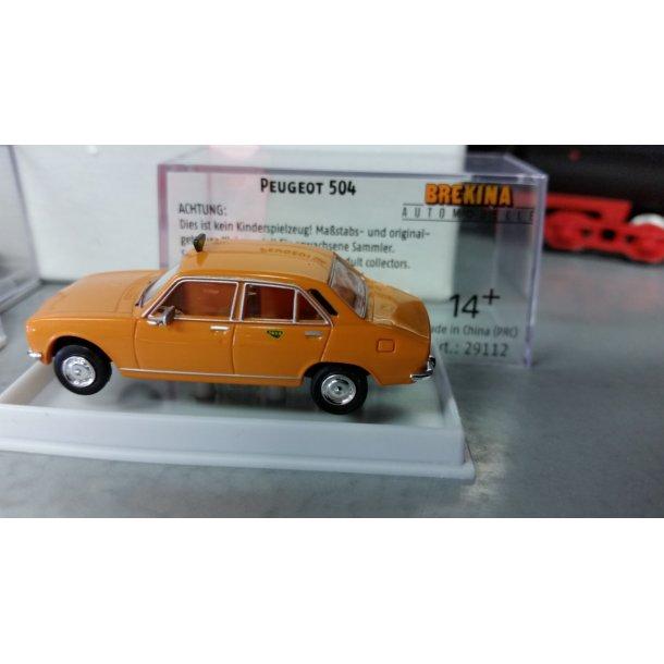 Brekina HO 29112 Peugeot 504 Dansk Taxa