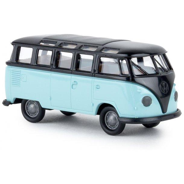 Brekina HO 31842 VW Samba T1b bus Sort / pastel turkis