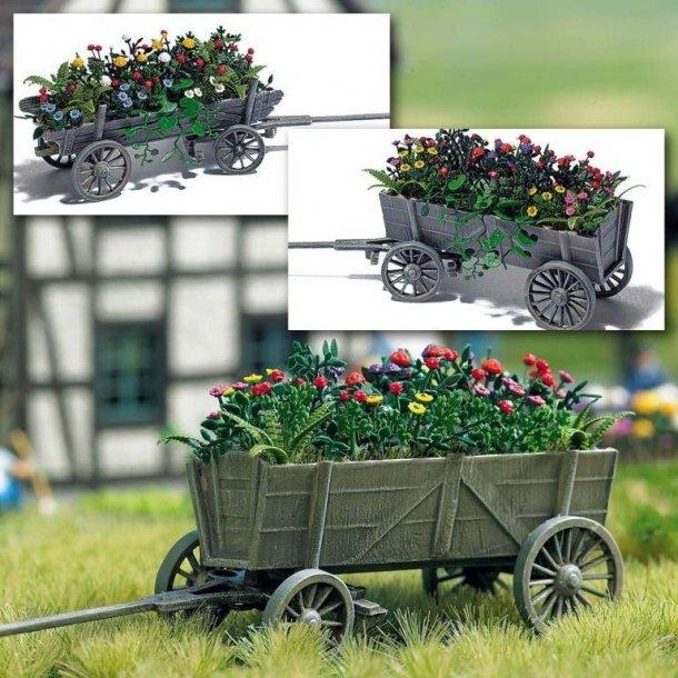 Busch 1228 HO trækvogn med blomster
