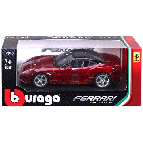 Burago 26002 Ferrari California T rød metal bygget Scala 1:24