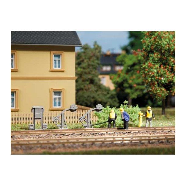 Auhagen HO 42575 Tilbehør sæt Spor telefoner og kabel spænder