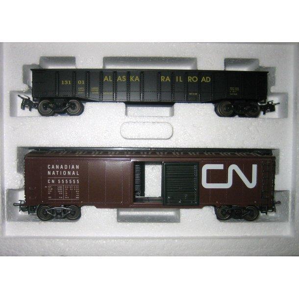 Märklin MHI model 4859 USA godsvognsæt Alaska Railroad.