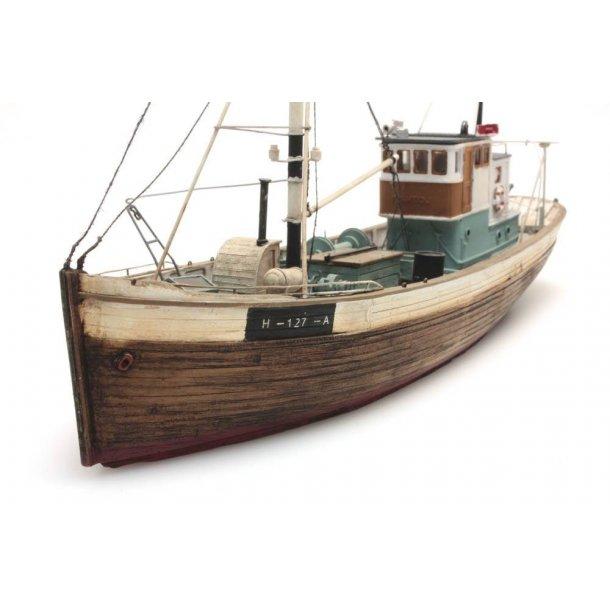 Artitec HO 50.107 Nordeuropas fiske båds fremtid i vandlinjen Mål L x b x H:230 x 60 x 140mm