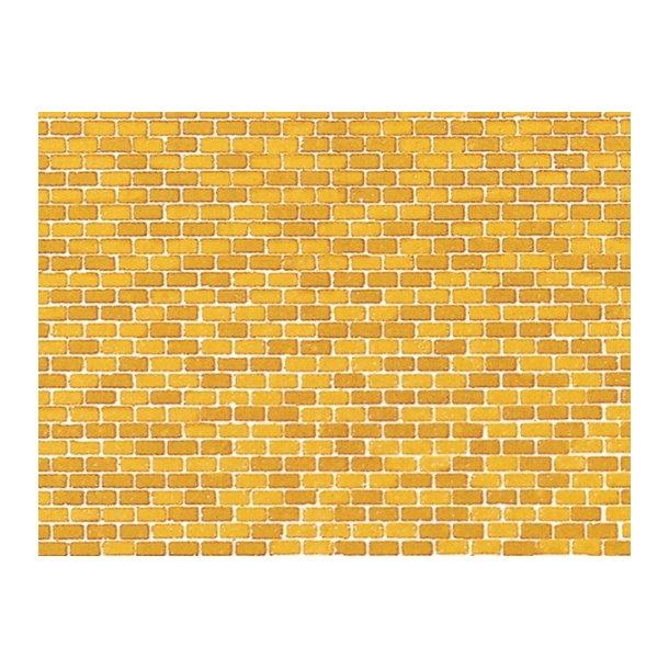 Auhagen HO/TT 50110 Deckor pap (Oker farvet mursten) 5 stk. 220 x 100 mm.