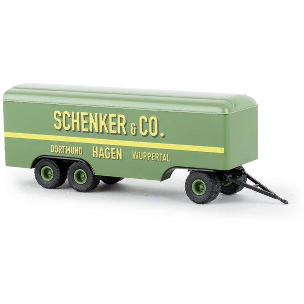 Brekina HO 55297 anhænger 3 akslet Schenker & CO  Dortmund  Hagen  Wuppertal   Nyhed 2020