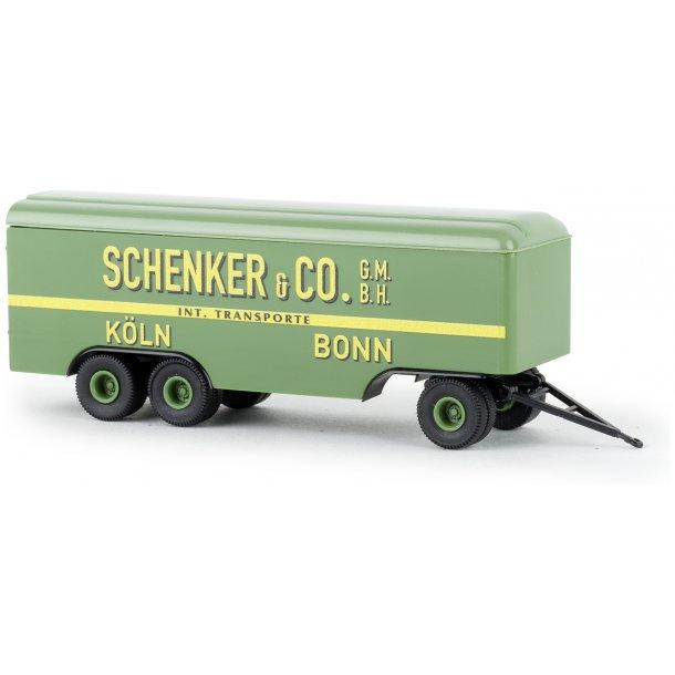 Brekina HO 55298 anhænger 3 akslet Schenker & CO  Köln  Bonn  Nyhed 2020
