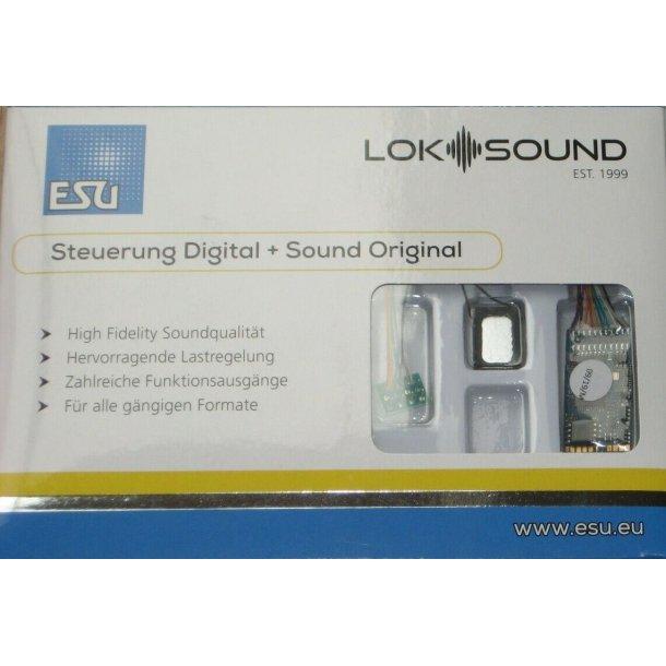 ESU 58410 Loksound V5,0 dekoder DCC/MM/SX/M4  8 pins med højtaler. Bulk leveres uden emballage.