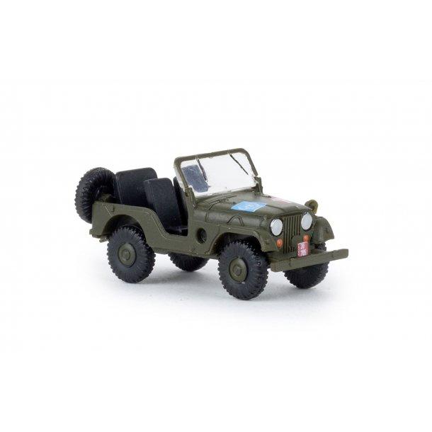 Brekina HO 58907  Jeep dansk militær. Nyhed 2019