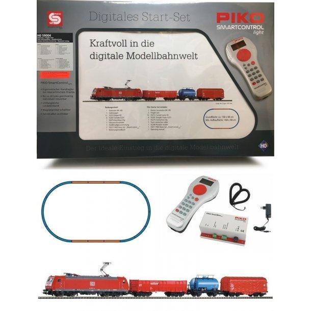 Piko HO 59004 DB AG digital DCC startsæt med E-lok BR 185 og 3 godsvogne.