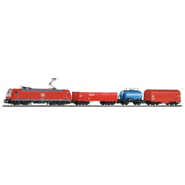 Piko 59004 DB AG digital DCC startsæt med E-lok BR 185 og 3 godsvogne.