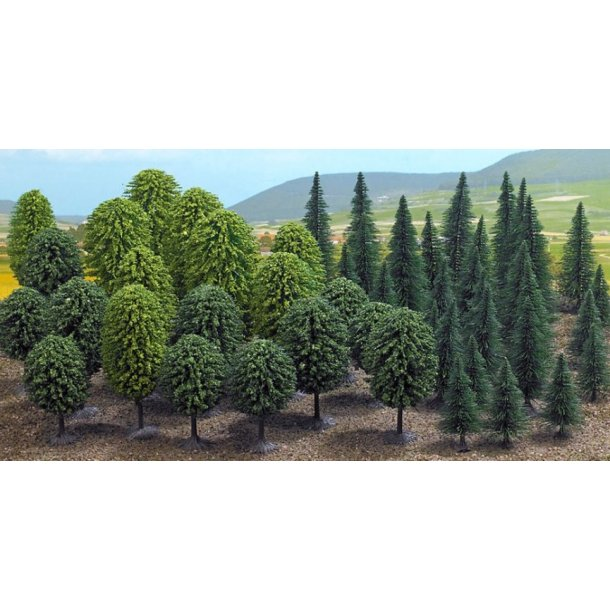 Busch 6591 spor TT/N/Z  50 blandet træer