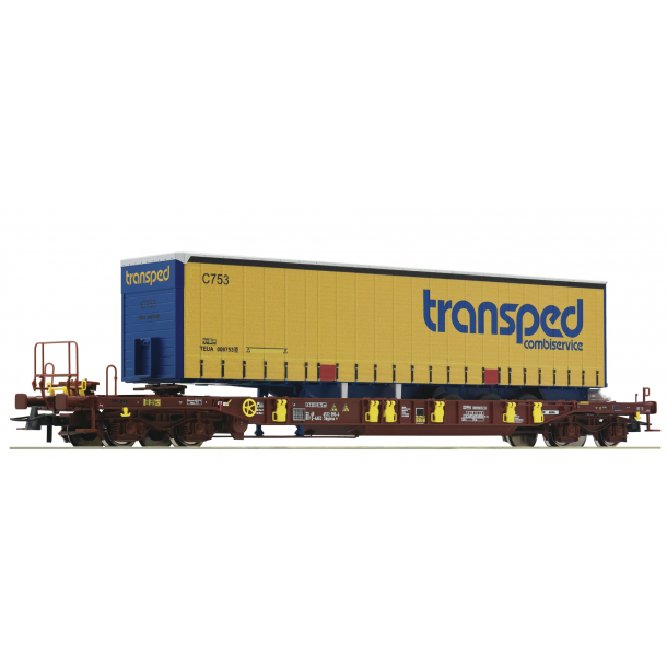"Roco HO 76223 DSB lommevogn Sdgmns med trailer Spedition ""Transped"" Nyhed 2019"