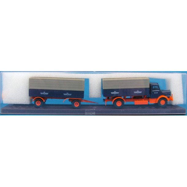 Brekina HO 77129 Krupp lastbil med anhænger som ny i original emballage