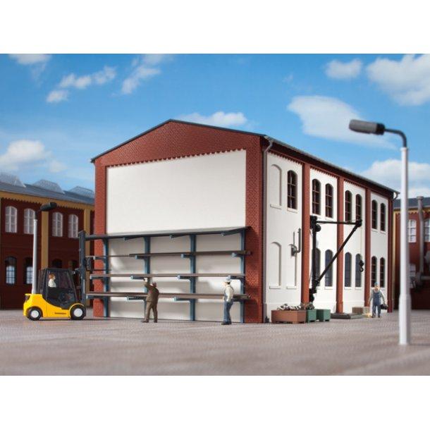 Auhagen HO 80107 sæt med vægholder til stål profiler og vægkran samt kasser